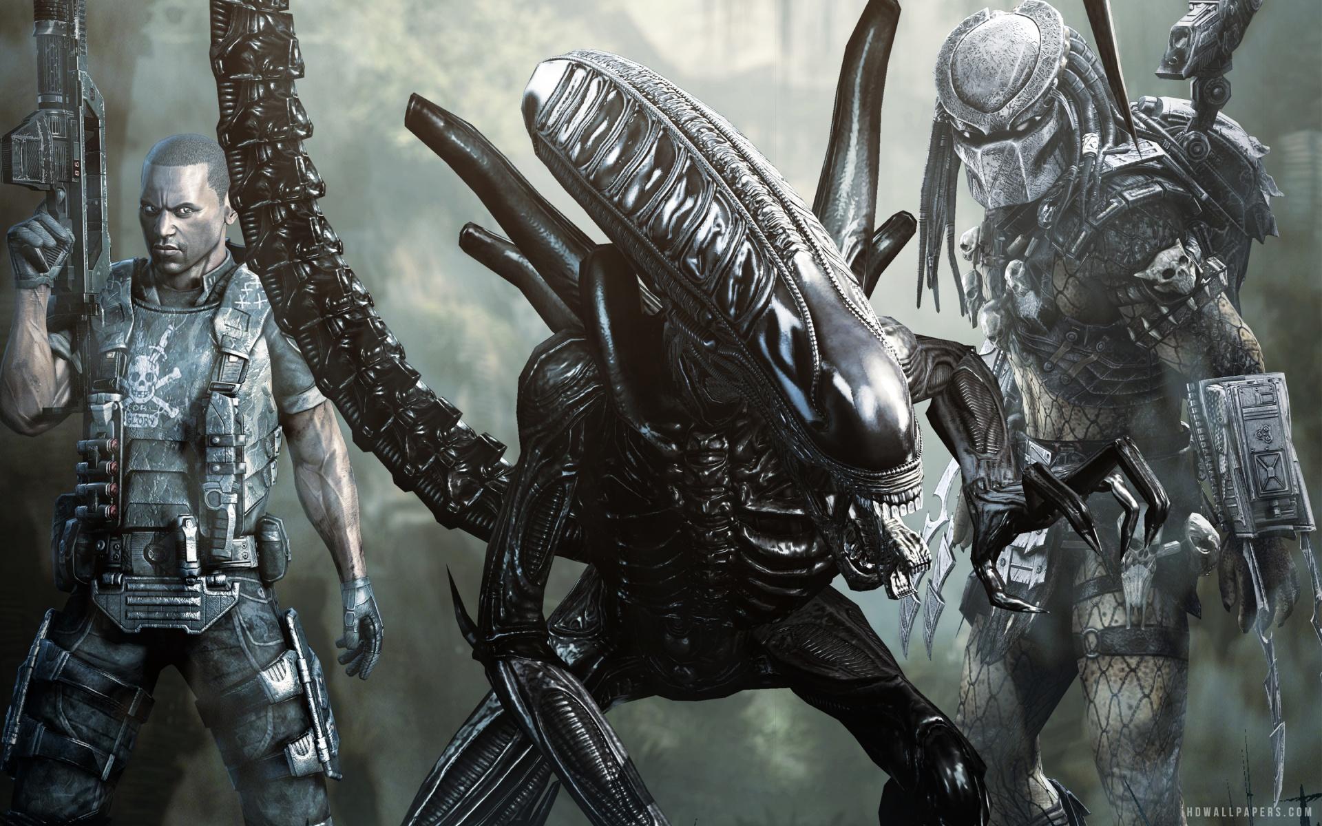 RGC Huge Poster - Aliens vs Predator PS3 XBOX 360 - OTH112  |Alien Vs Predator Xbox 360 Wallpaper