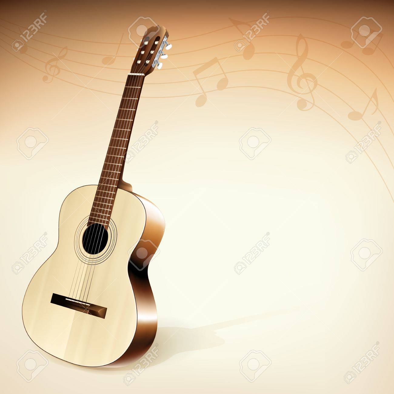 Classic Guitar Background Theme Royalty Cliparts Vectors 1300x1300
