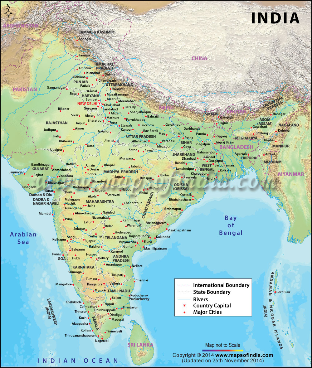 India Map Images Pictures 1000x1180