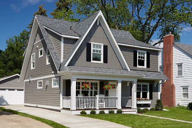Cape Cod Home Ideas The gray exterior is James Hardie lap siding in 660x441