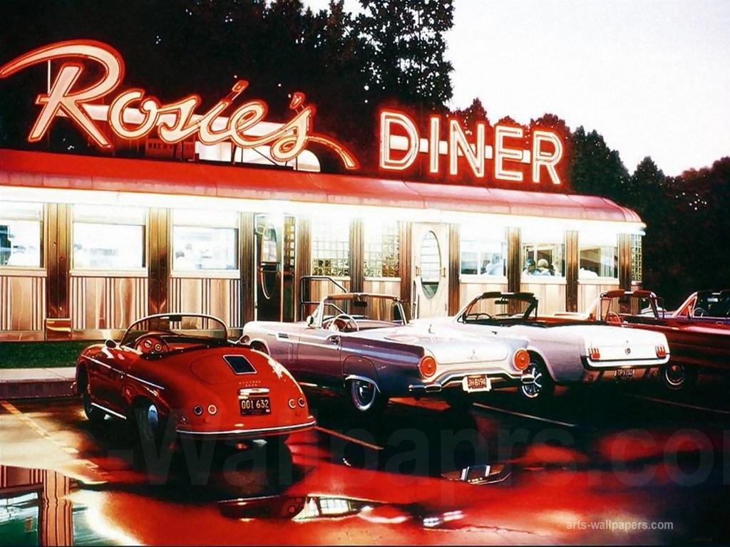 Computer Kitchen Design American Diner Wallpaper Wallpapersafari