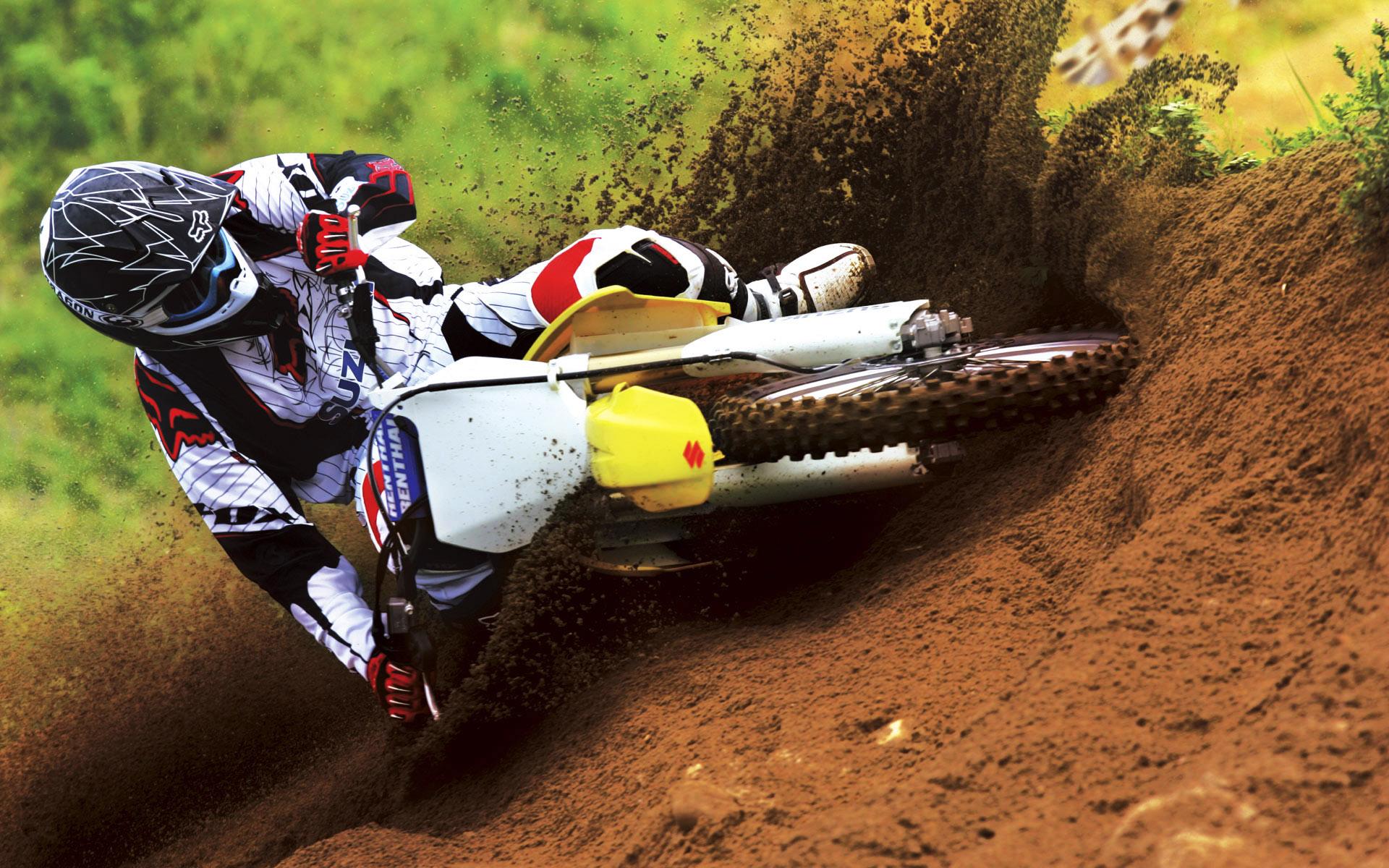 Suzuki Motocross Bike Race Wallpapers HD Wallpapers 1920x1200