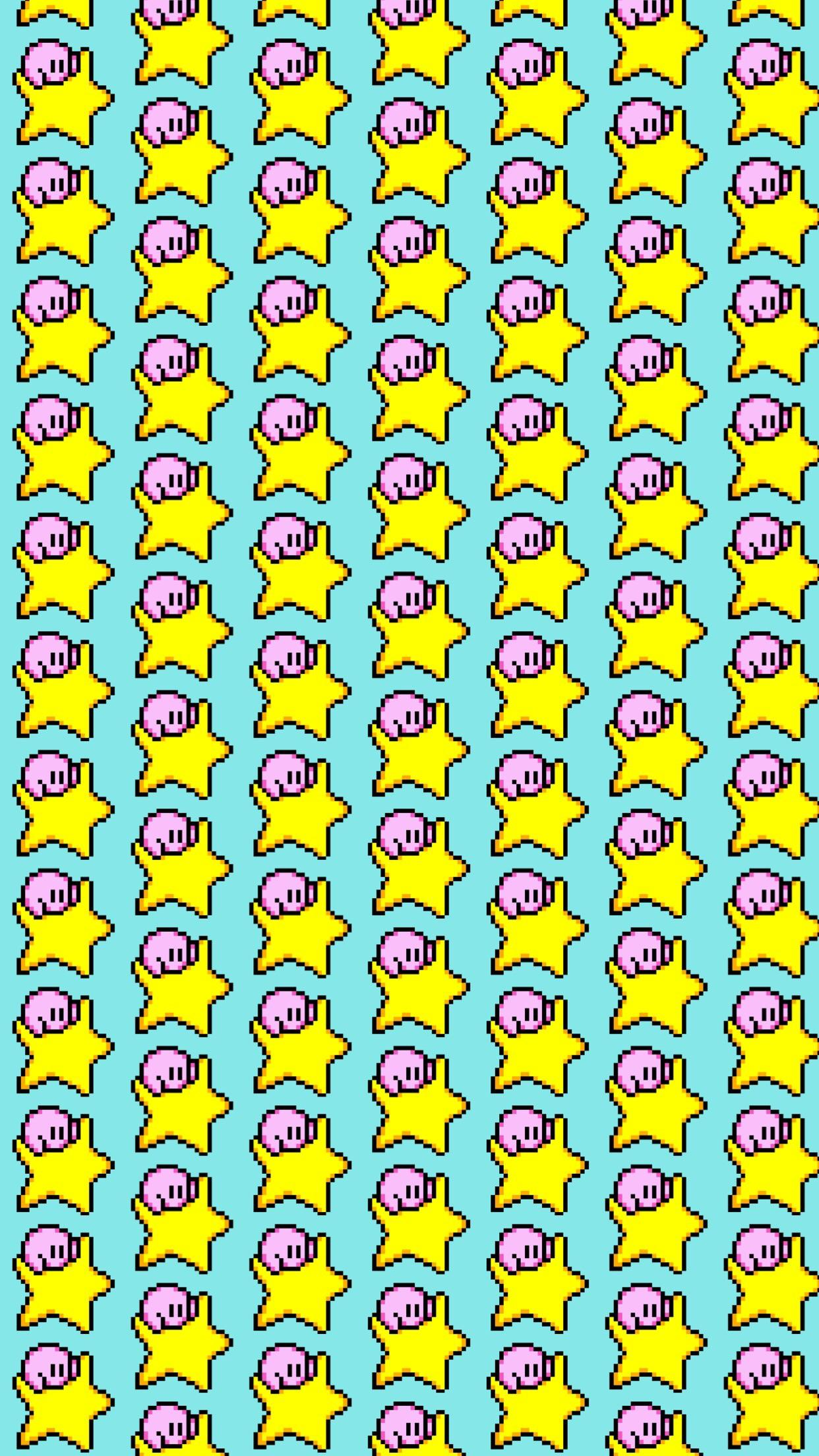 Made a Kirby background for my phone and wanted to share Kirby 1242x2208