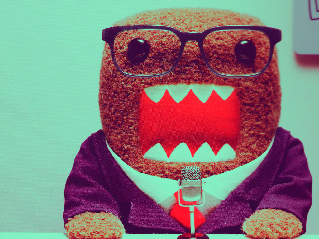 Domo Mustache Wallpaper 1024x768 domo kun wallpaper 1024x768