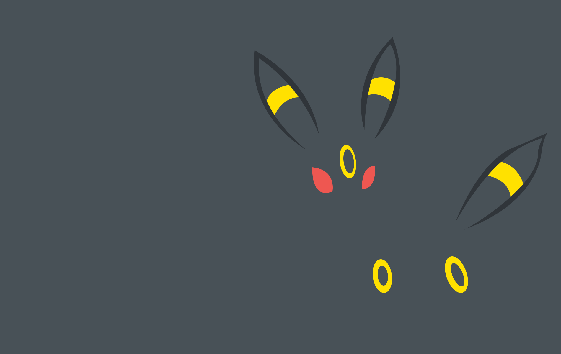 umbreon by poketrainermanro customization wallpaper minimalistic other 1900x1200