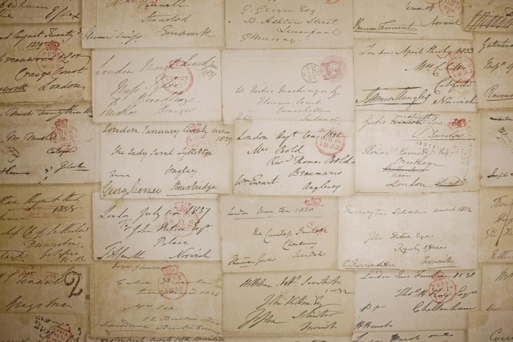 Antique Love Letters Wallpaper