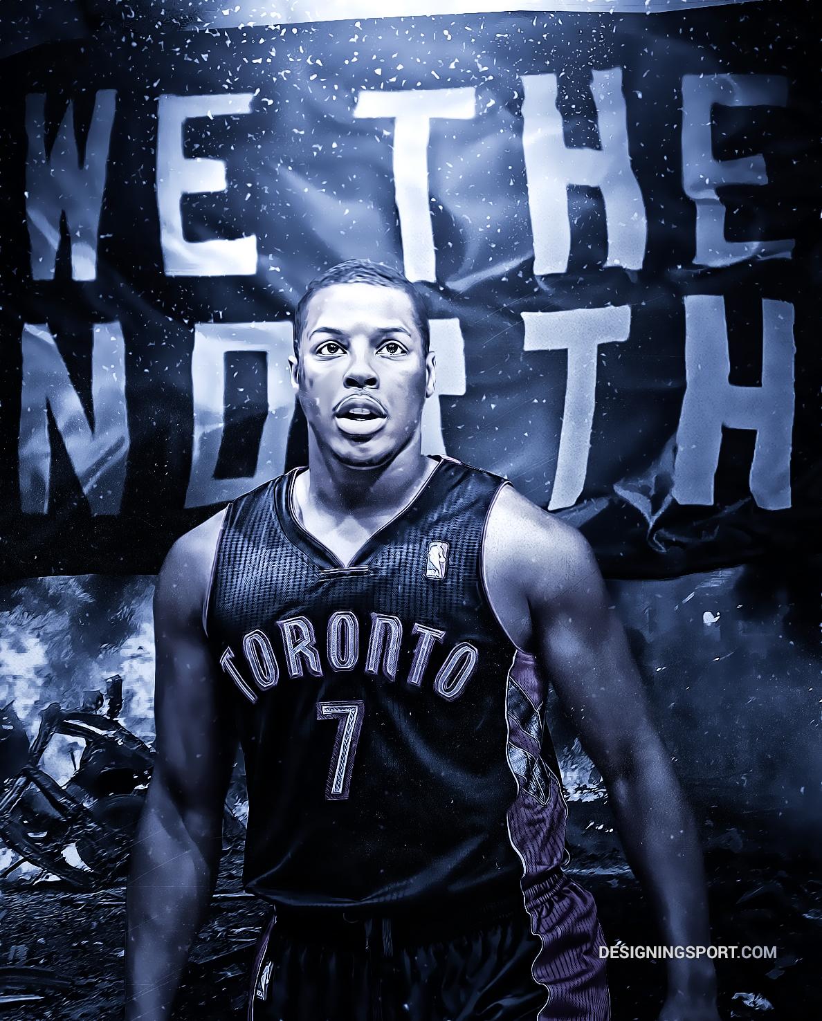 Kyle Lowry Toronto Raptors We the North Sport Art 1188x1476