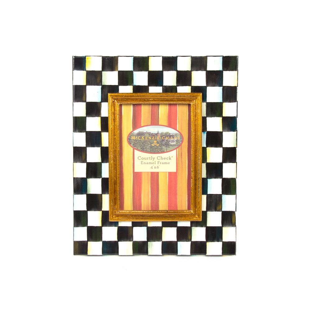 MacKenzie Childs Courtly Check Enamel Frame at Amara 1000x1000