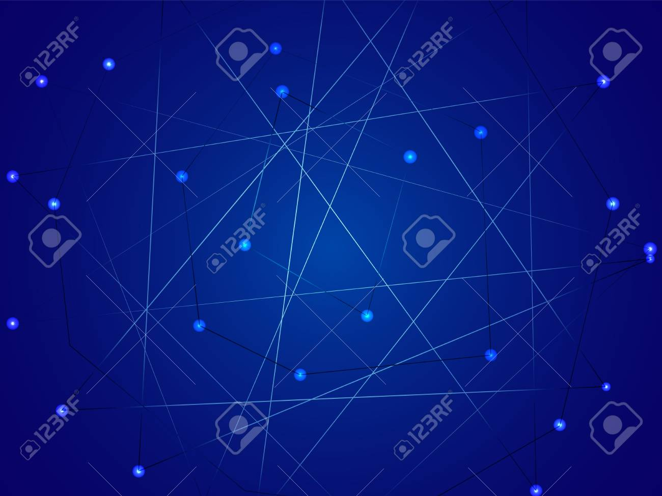 Starry Sky Map Random Schematic Bright Stars On A Blue Background 1300x975