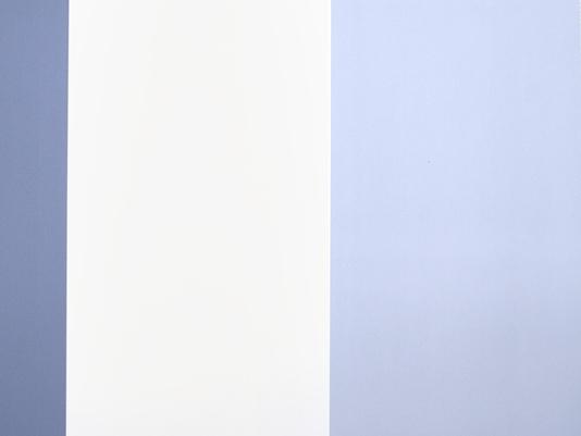 Wallpaper A broad striped wallpaper in sky blue cream and denim blue 534x401