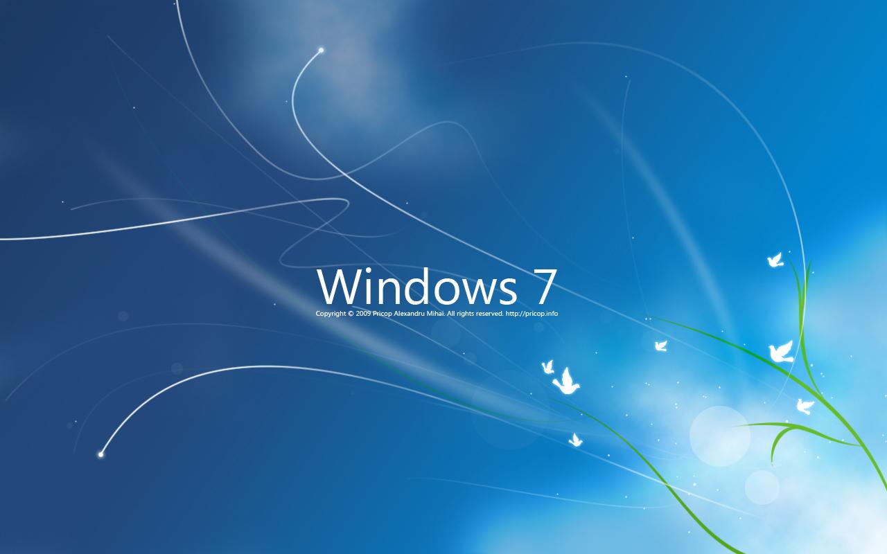 Windows 7 Whacked Wallpaper: Windows 7 Original Wallpaper