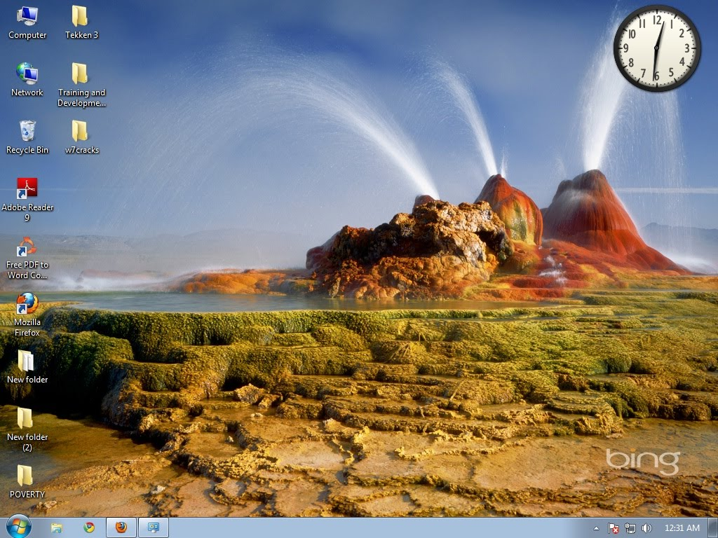 The popular Bings Best 2 theme pack takes your Windows 7 desktop on a 1024x768