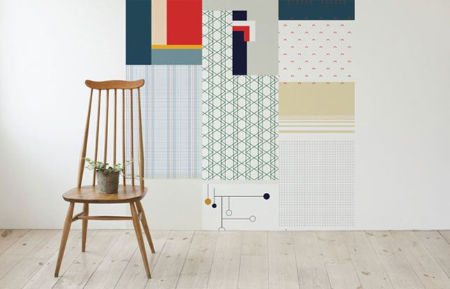 Cut Paste Makes Hanging Wallpaper Ridiculously Easy via Brit Co 645x415