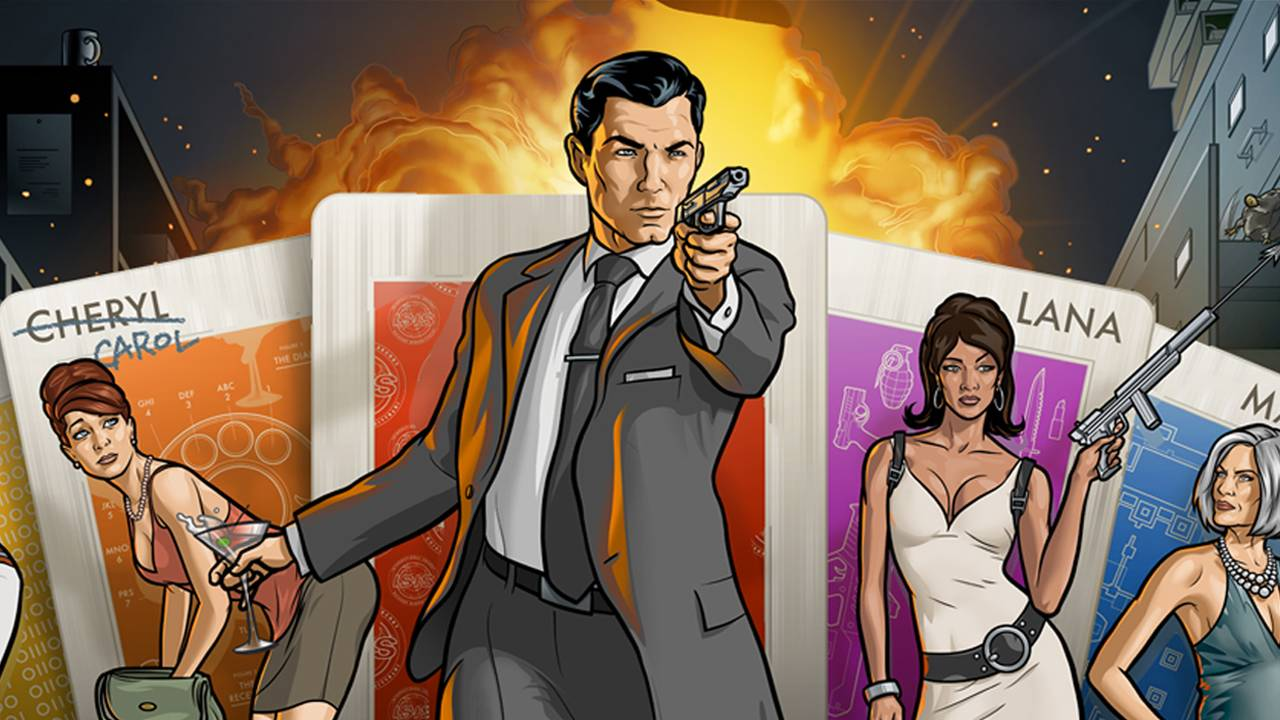 Archer Cards Characters from Archer in front of cards 1280x720