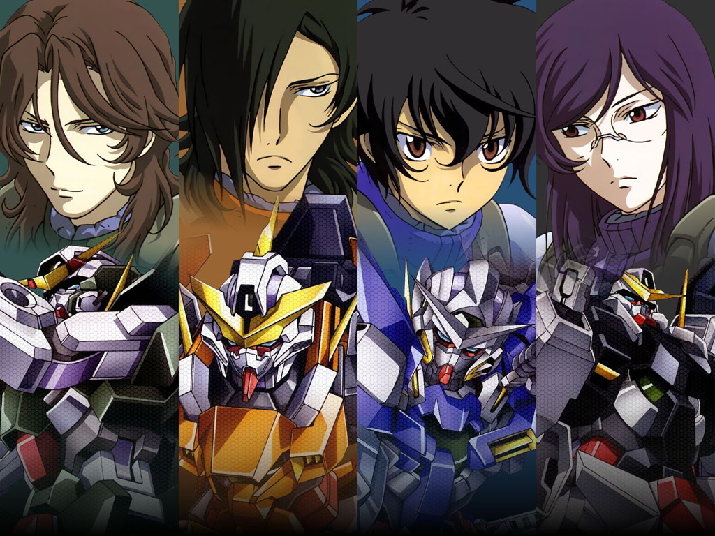 Wallpapers of Mobile Suit Gundam 00 Anime 1024x768