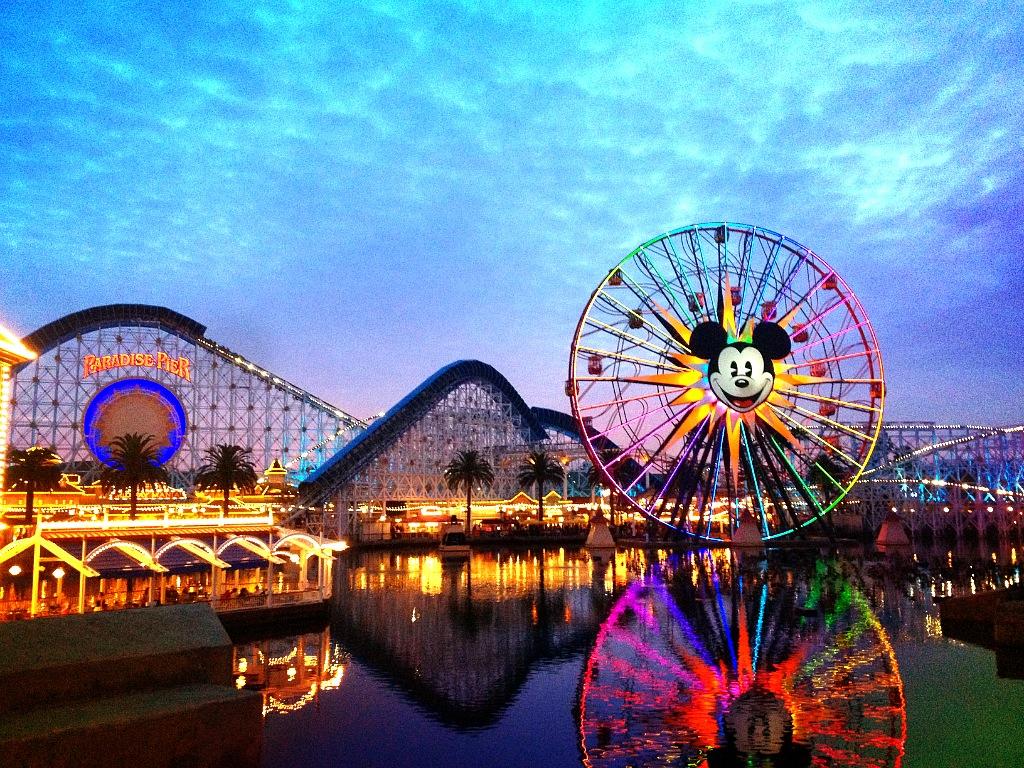 Disneyland Disneyland Paradise Pier 1024x768