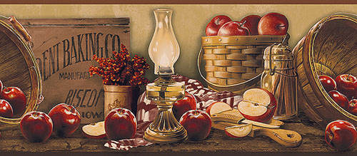 Apple Collection Wallpaper Border The Country Shoppe 500x219