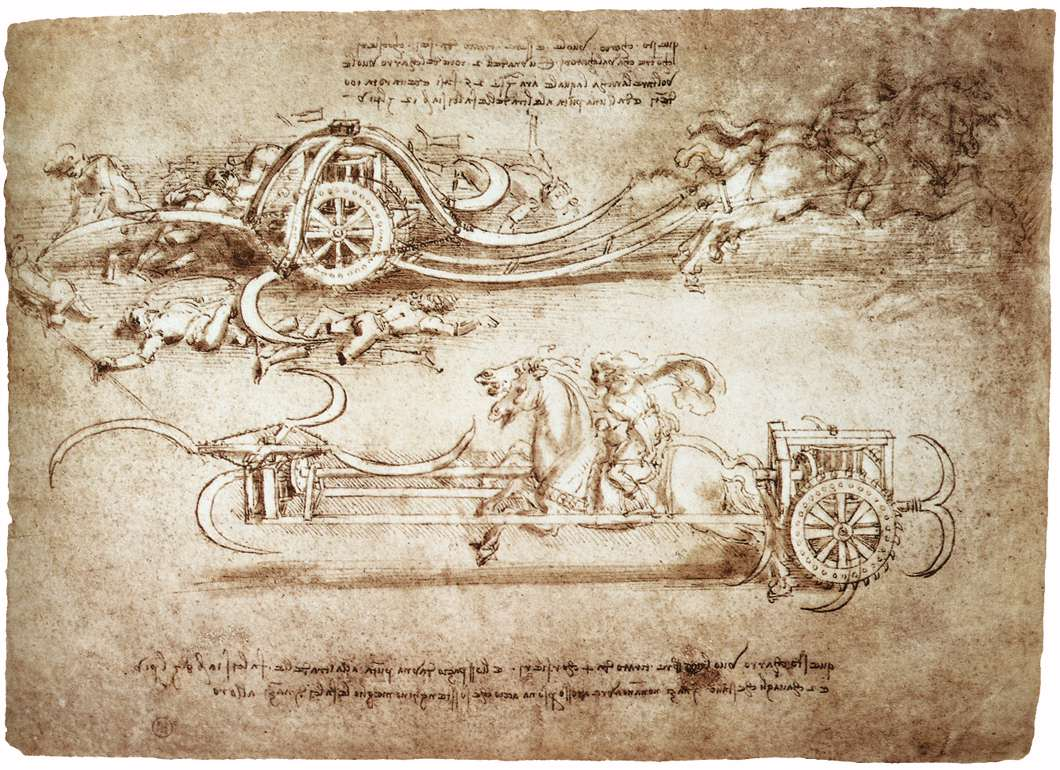 Scythed Chariot   Leonardo da Vinci   WikiArtorg 1060x770
