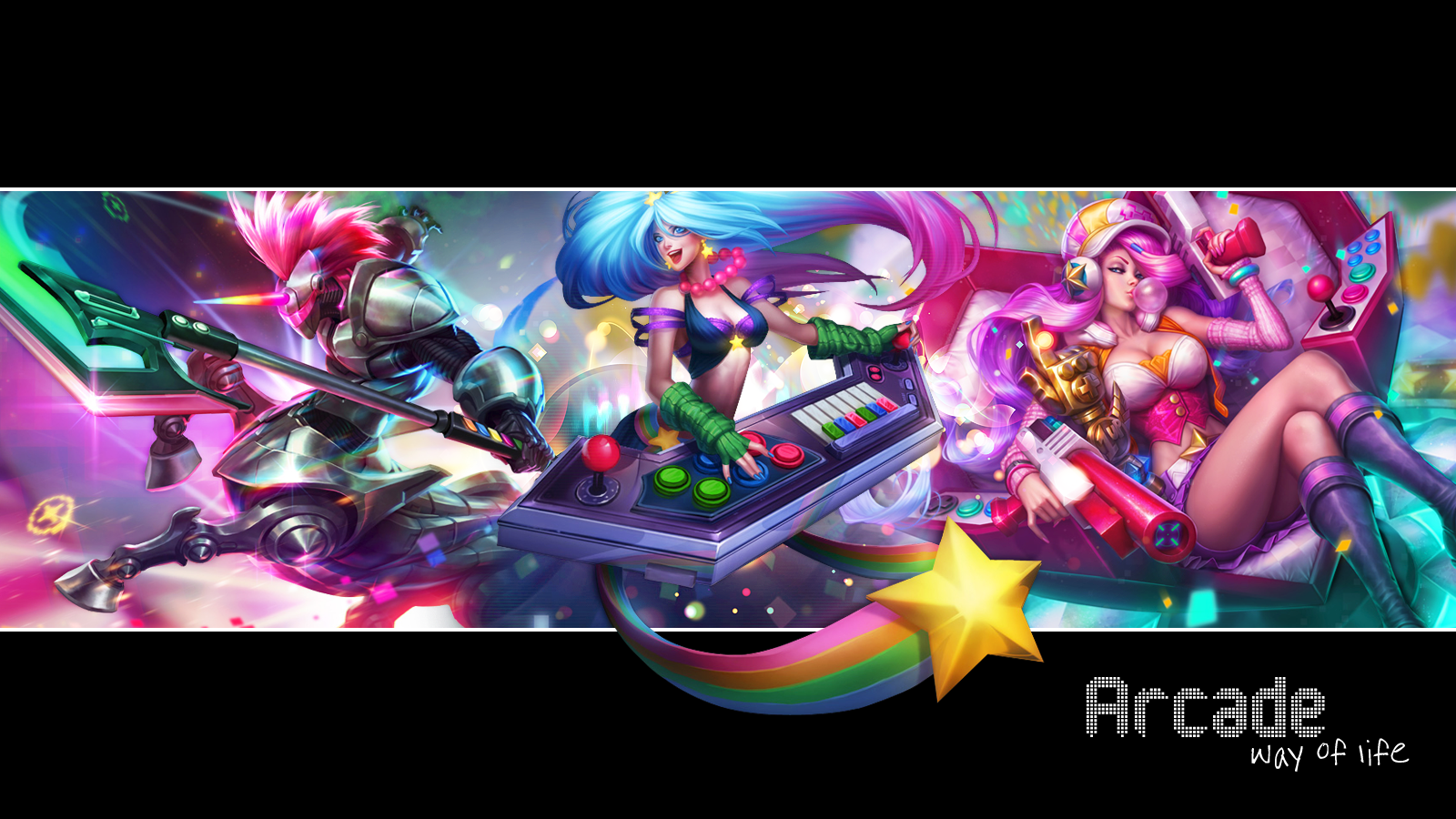 Free Download League Of Legends Arcade Wallpaper By Asheralia