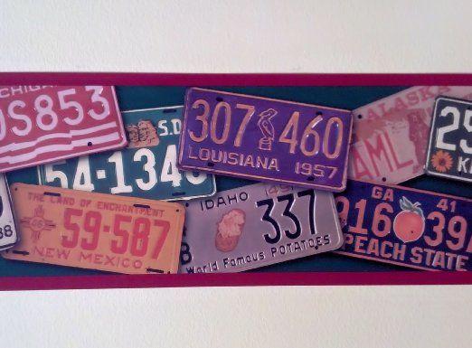 Wallpaper Border Designer Route 66 Vintage Automobile License Plates 522x385