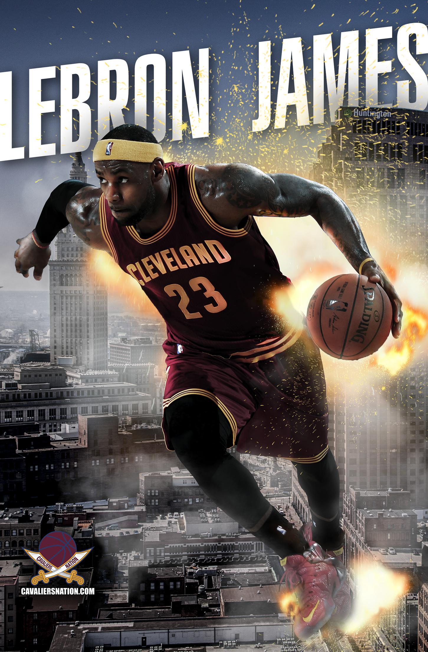 LeBron James Exploding Wallpaper Cavaliers Nation 1451x2208