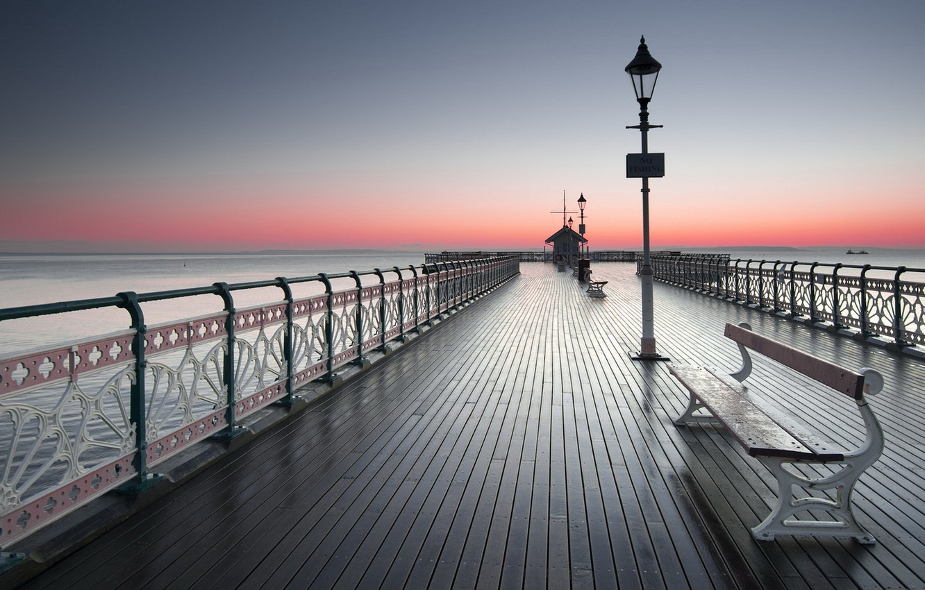 Wallpaper sunset bridge Cardiff images for desktop section 1332x850