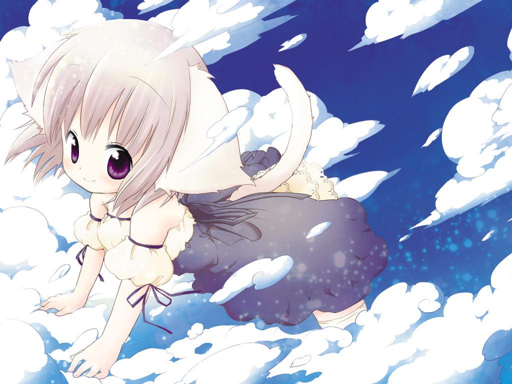 Neko Girl Wallpaper Pack 4 Randomness Thing 1024x768