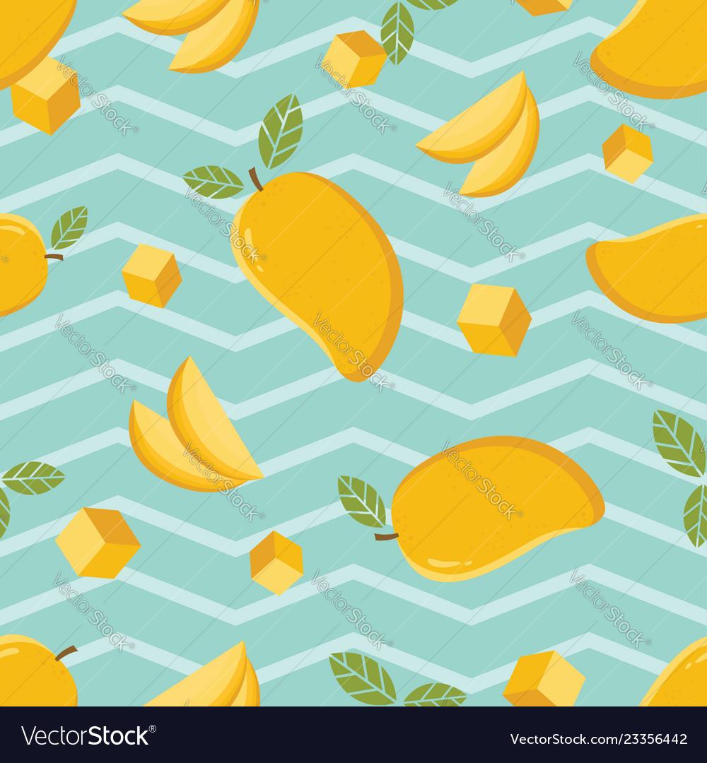Seamless background pattern of yellow mango Vector Image 1000x1080