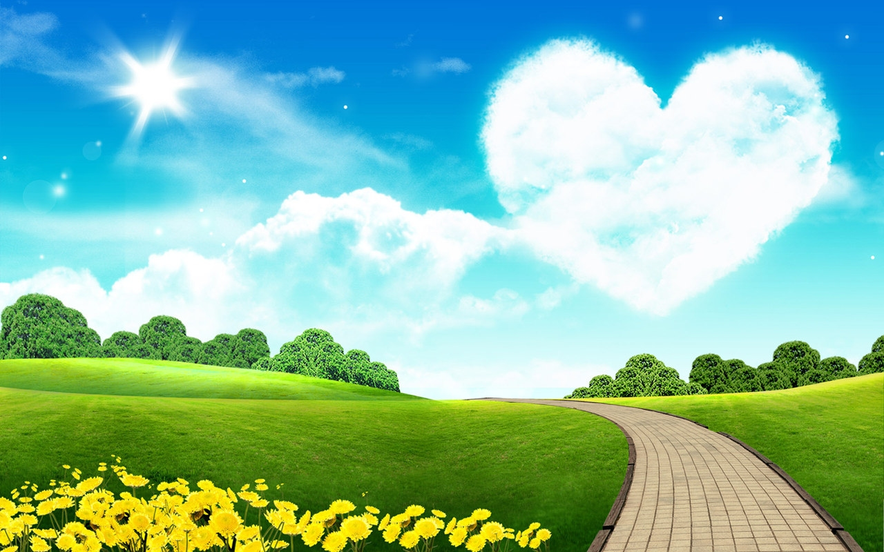 Hd 1280x800 Pretty Star And Love Heart Desktop Wallpapers Backgrounds 1280x800