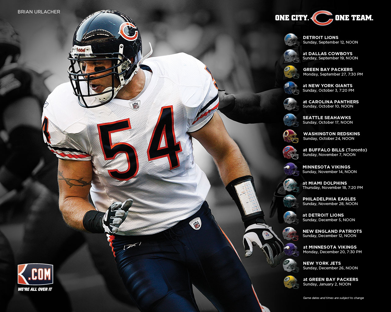 Chicago Bears desktop wallpapers Chicago Bears wallpapers 1280x1024