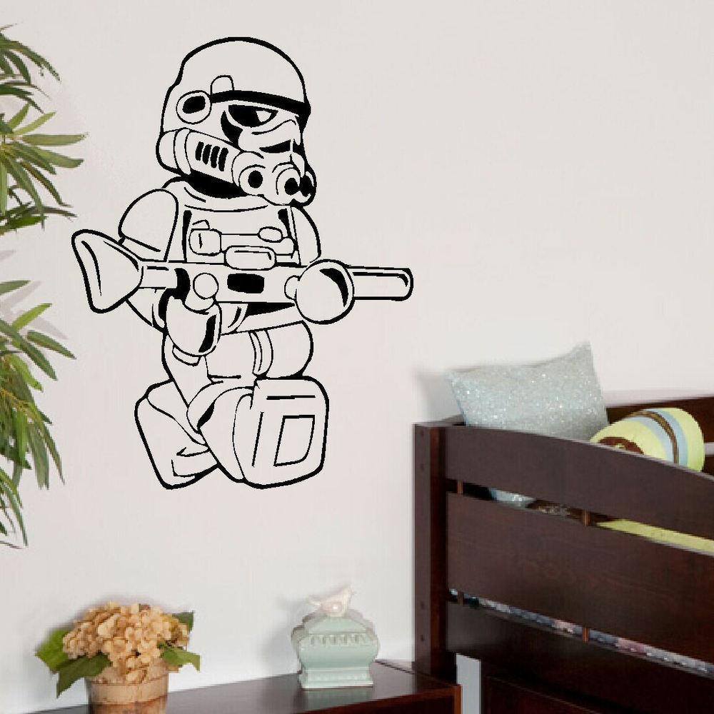 LARGE STAR WARS LEGO MEN STORM TROOPER BEDROOM WALL ART STICKER 1000x1000