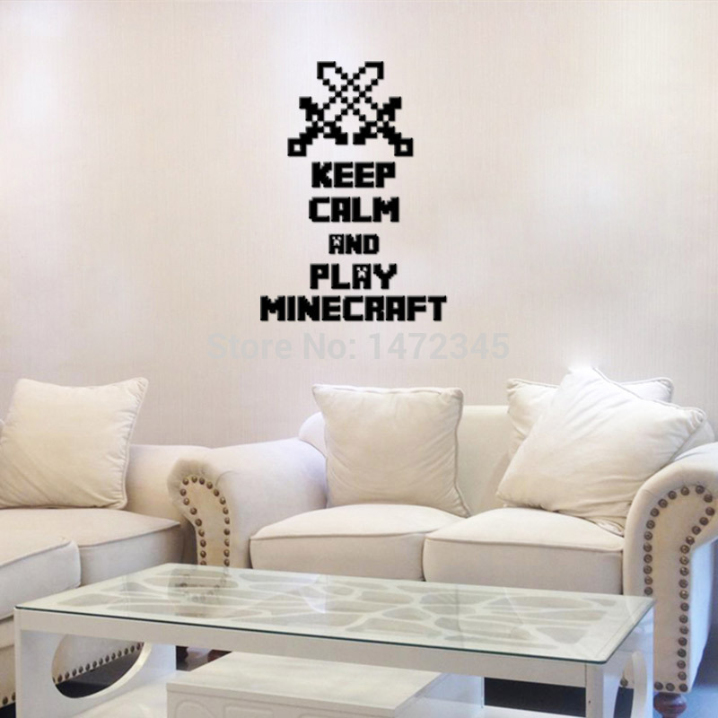 3D Minecraft Wall Sticker Cartoon Wallpaper Kids Room Decal Minecraft 800x800