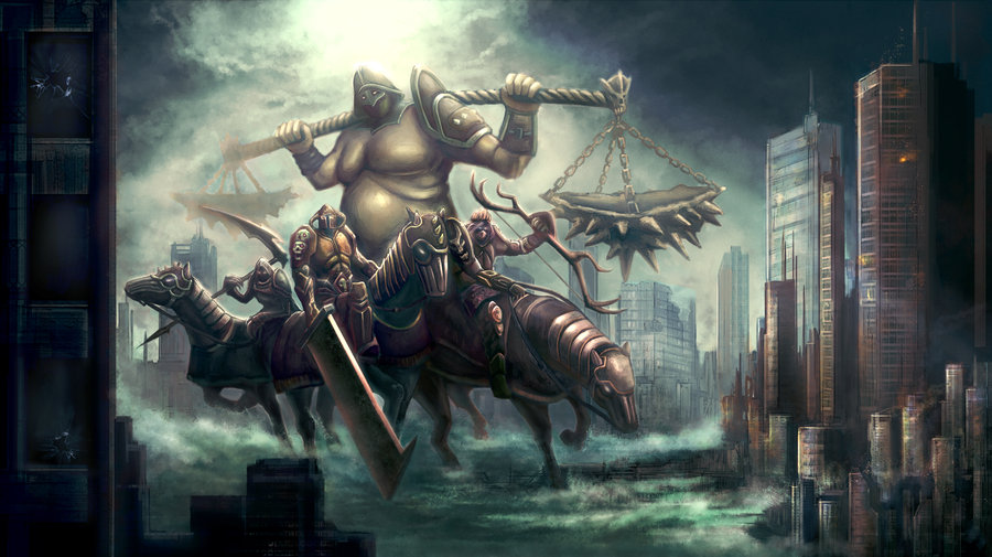 horsemen of apocalypse by erioca 900x505