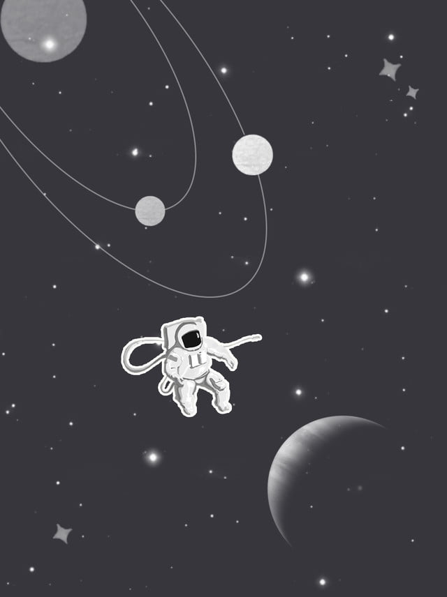 Astronaut Background Vector Material Starry Sky Astronaut Space 900x1203