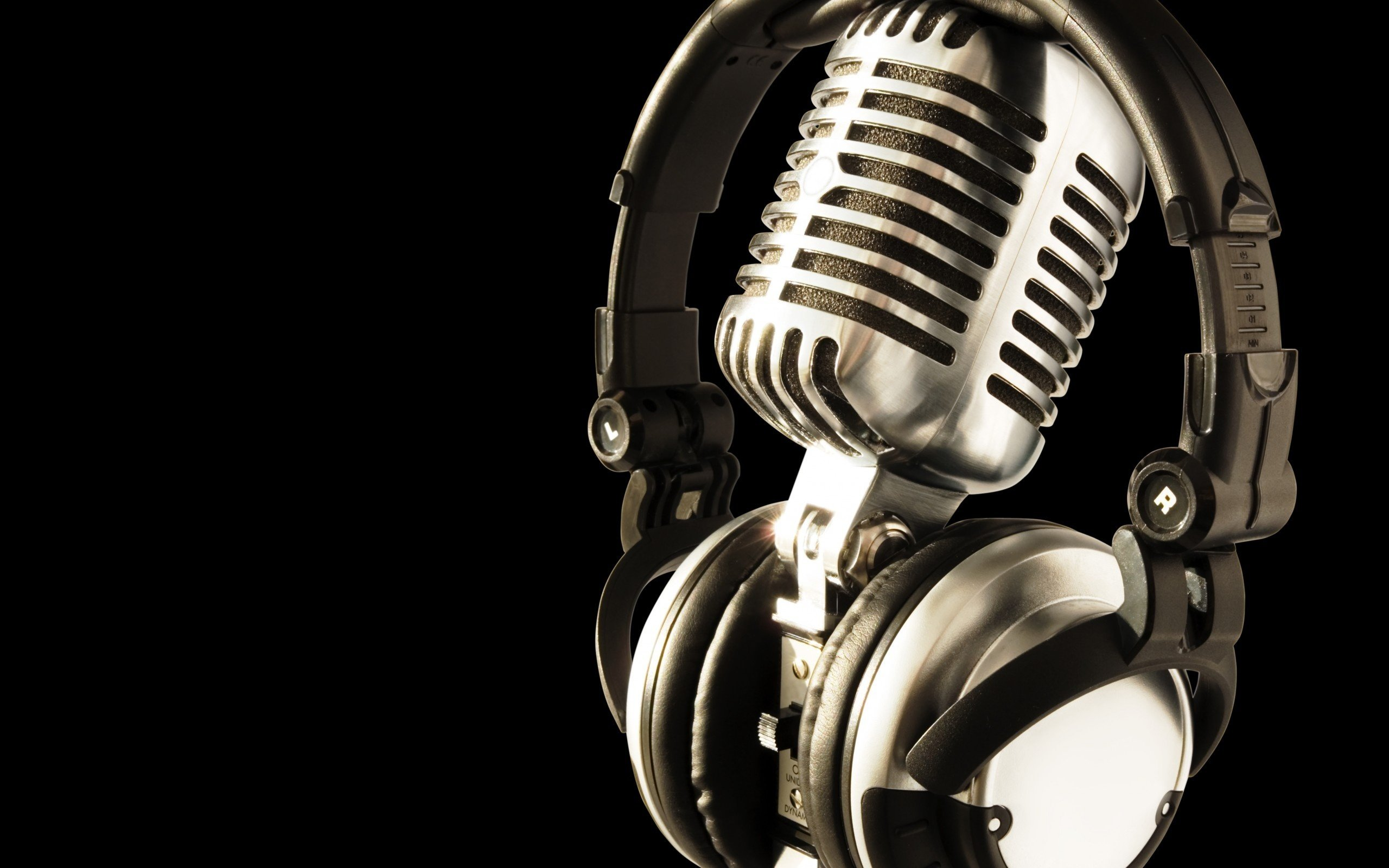 Retro microphone wallpaper Wallpaper Wide HD 2560x1600