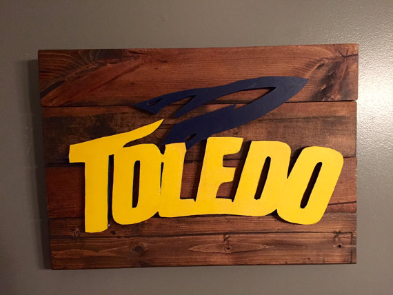 University of Toledo Rustic Wall Decor by TheSimplyRusticDoor 570x428