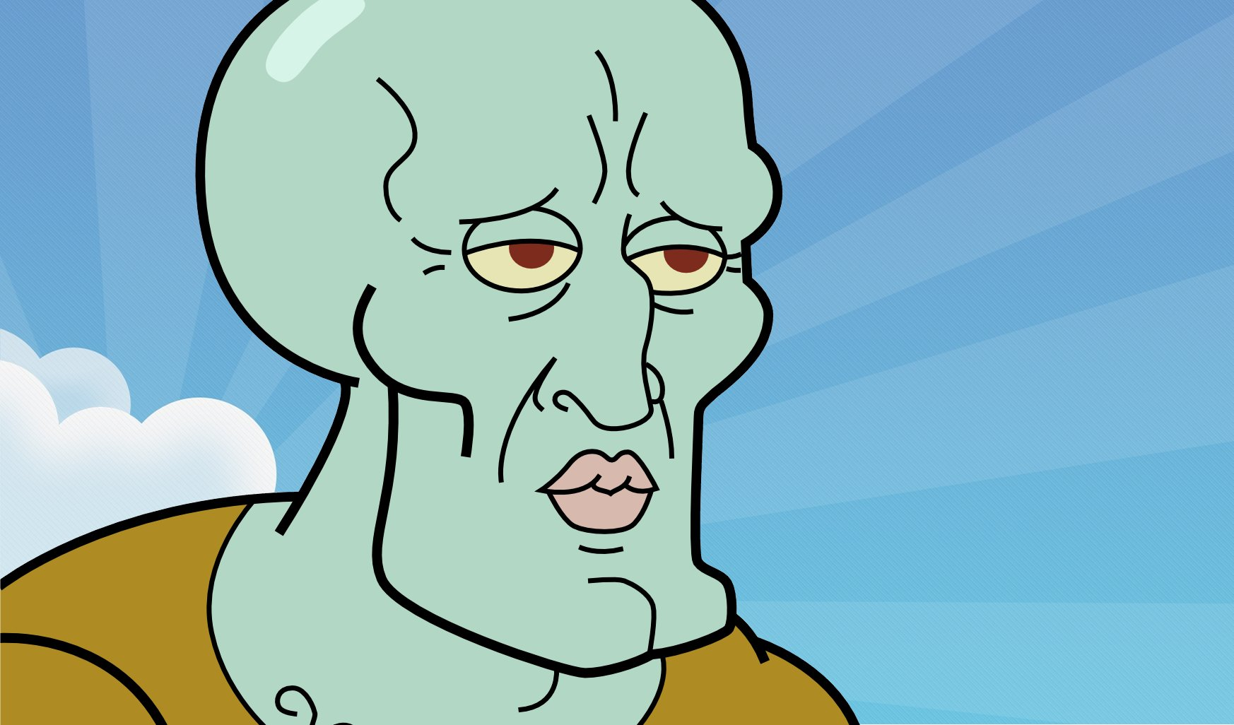 Handsome Squidward Falling Images Pictures   Becuo 1746x1026