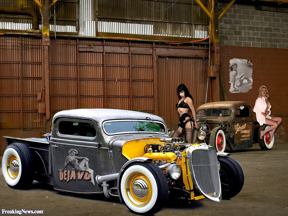 Naked chick rat rod the message