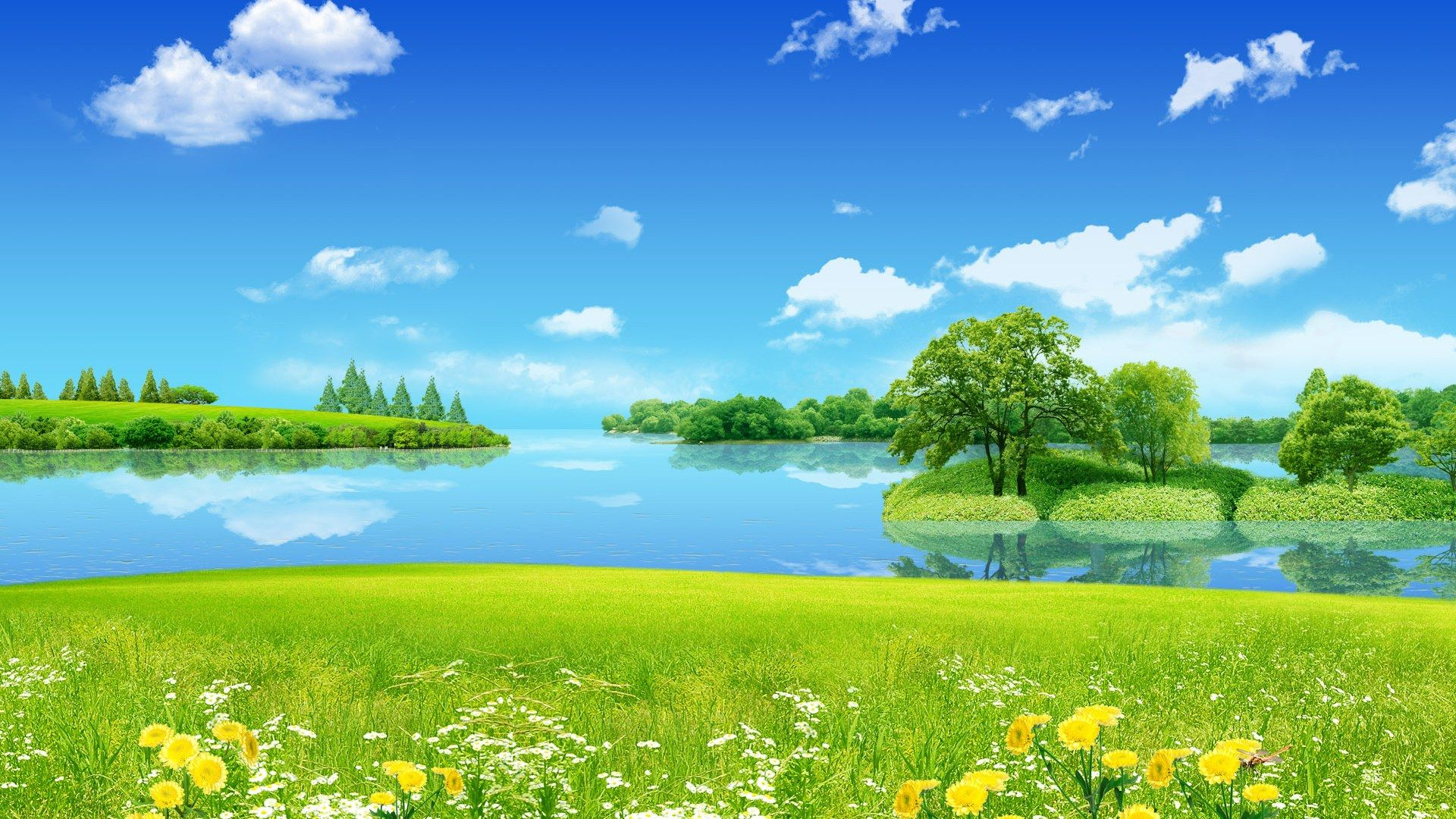 Sunny spring day wallpaper Hd nature wallpapers Beautiful 1920x1080
