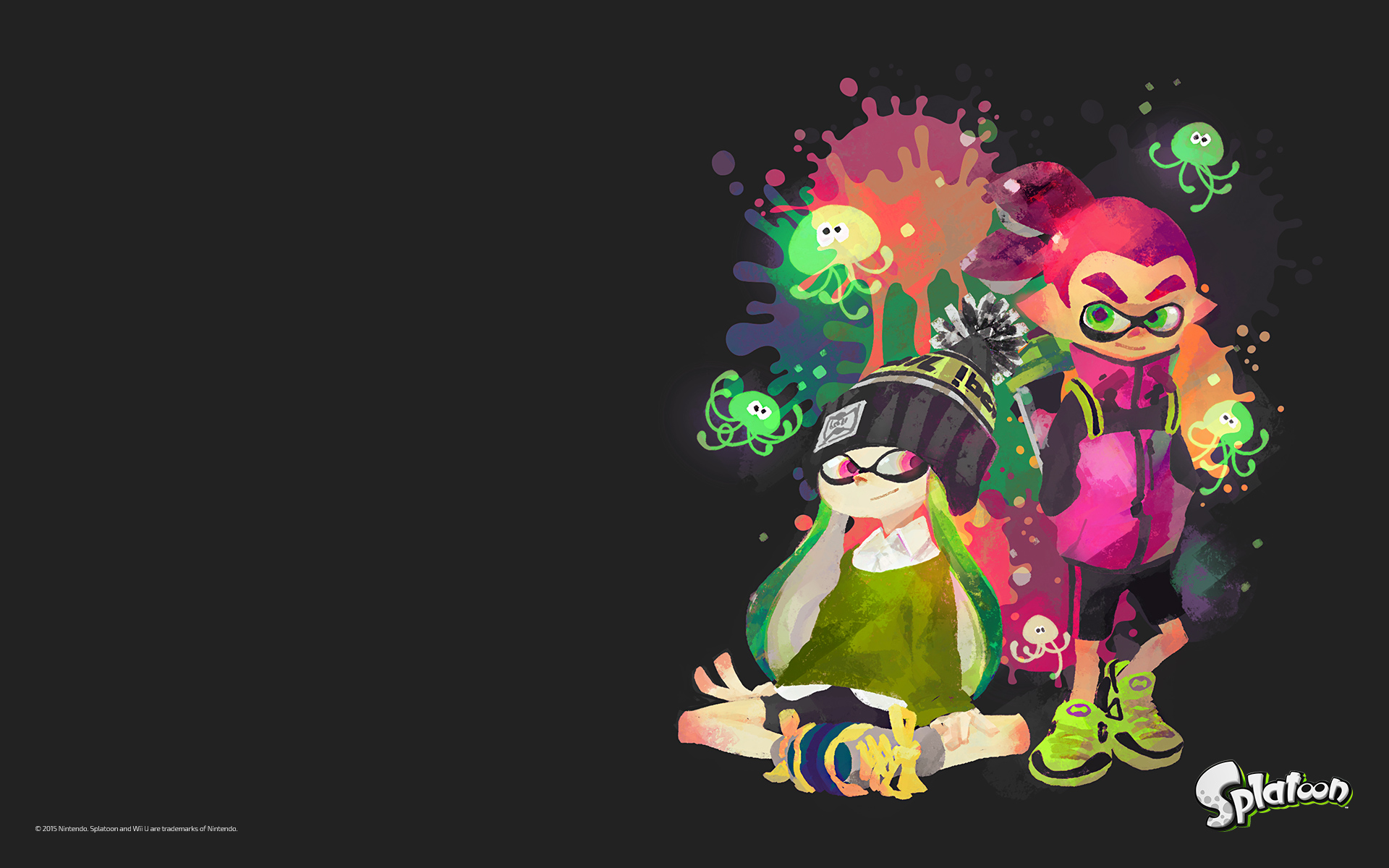Inkling Splatoon Squid Wallpaper Wallpapersafari