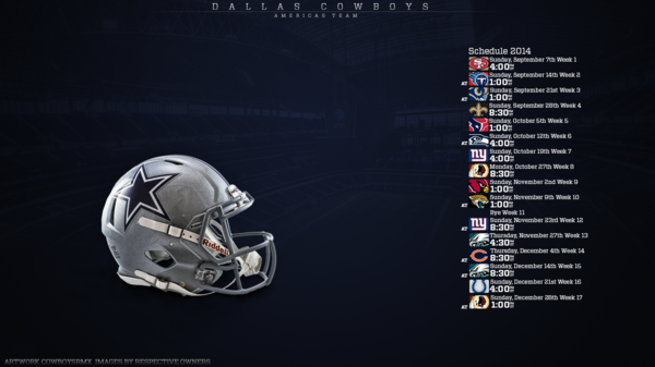 Dallas Cowboys Wallpaper 2014 Schedule 2014 schedule 471381289 600x337