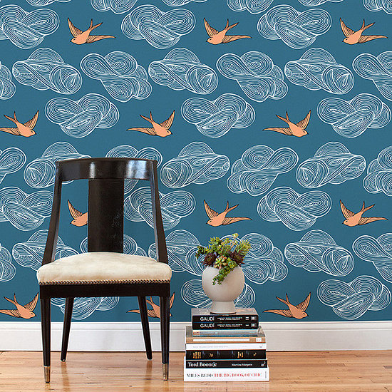 Removable Wallpaper Tiles 6 Paint Alternatives For Renters 550x550