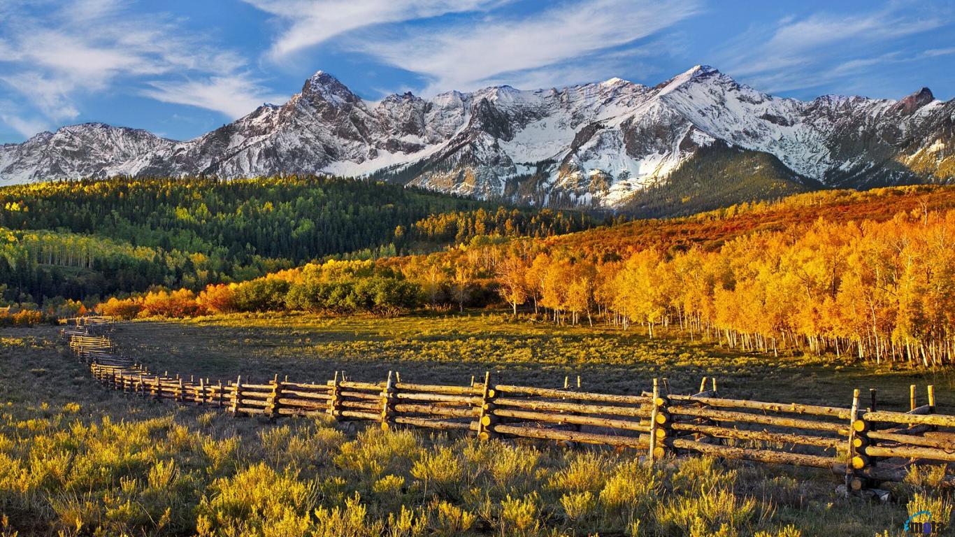 Wallpaper Mountain pass Dallas Divide Colorado 1366 x 768 Desktop 1366x768