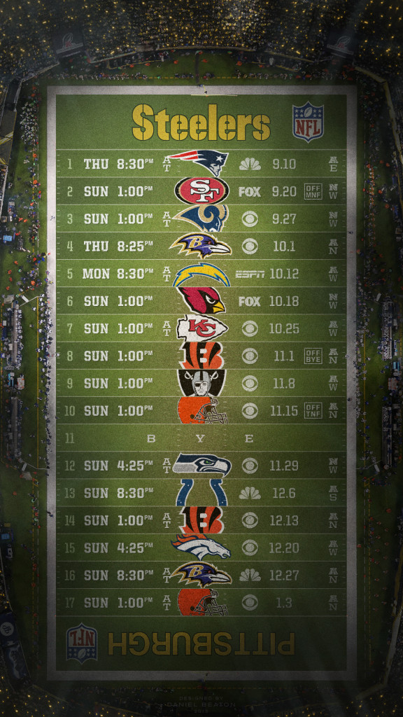 2015 NFL Schedule Wallpapers   Page 3 of 8   NFLRT 576x1024
