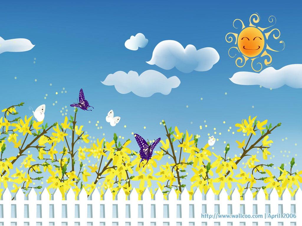 spring cartoon wallpaper - photo #8