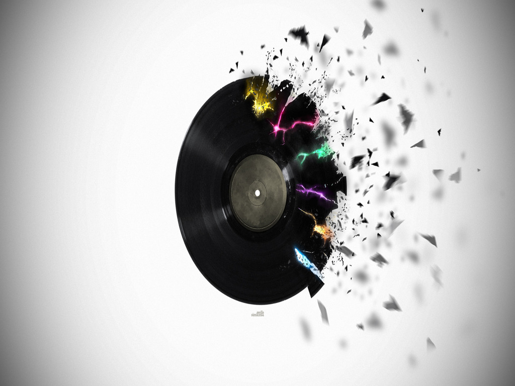 Record Wallpaper   Download The Shattered Record Wallpaper 1024x768