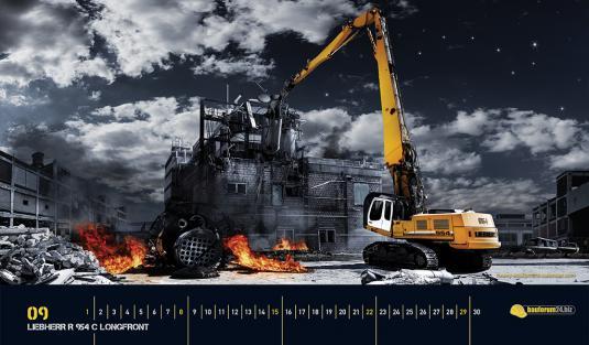 Liebherr R 954 C Longfront Heavy Equipment Calendar 535x313