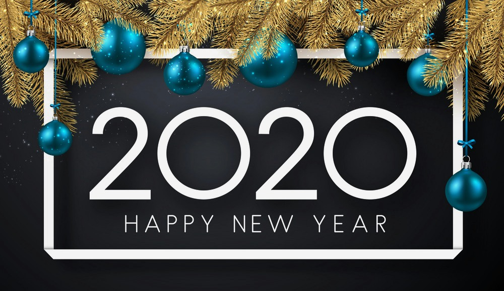download Most Beautiful Happy New Year 2020 Wallpapers Card 1000x579