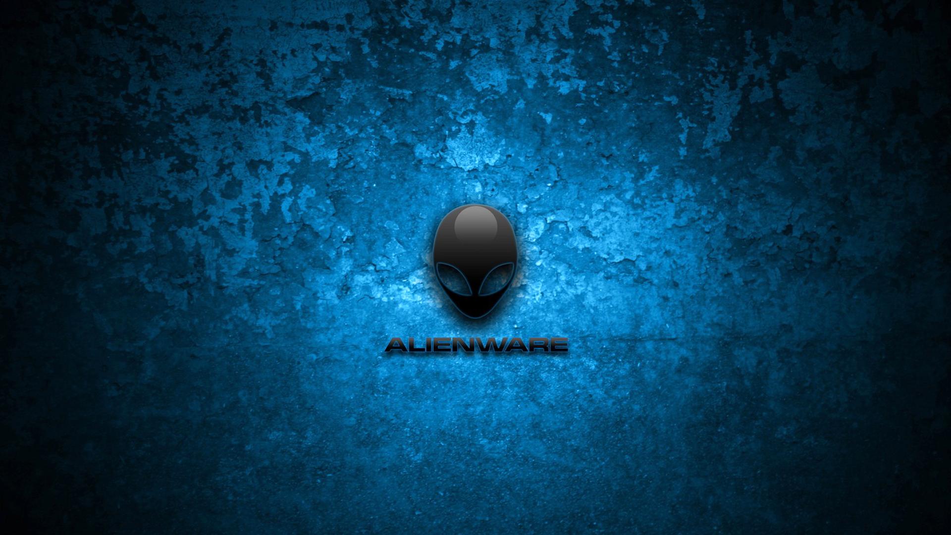alienware simple logo dark blue texture background 1920x1080 1080p 1920x1080