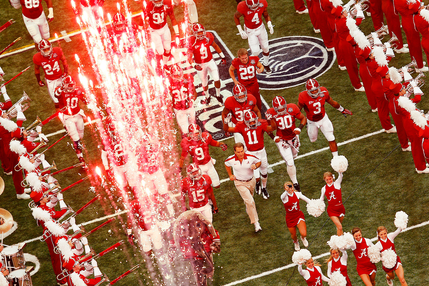 Alabama Take the Field   BCS Championship Game   ESPN 1440x960